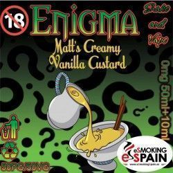 Matts Cremy Vanilla Custard Enigma Eliquid 50ml E-Liquid