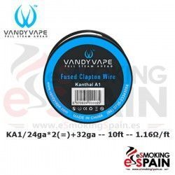 Kanthal A1 Fused Clapton 24ga*2+32ga 10ft Vandy Vape