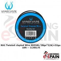 Kanthal A1 Twisted Clapton 28ga*2(&)+32ga 10ft Vandy Vape